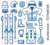 mountain skiing gear and... | Shutterstock .eps vector #737568268