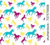 unicorn seamless pattern.... | Shutterstock .eps vector #737570008