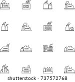 set of factories line icon | Shutterstock .eps vector #737572768