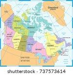 canada map   detailed vector... | Shutterstock .eps vector #737573614