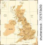 united kingdom map   vintage... | Shutterstock .eps vector #737573650