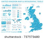 united kingdom map   detailed... | Shutterstock .eps vector #737573680