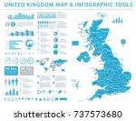 united kingdom map   detailed...   Shutterstock .eps vector #737573680