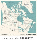 canada map   vintage detailed... | Shutterstock .eps vector #737573698