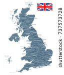 united kingdom map and flag  ... | Shutterstock .eps vector #737573728