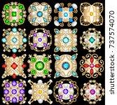 illustration set of jewelry... | Shutterstock .eps vector #737574070