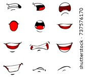set of mouths cartoon | Shutterstock .eps vector #737576170