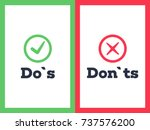 do's and don'ts with tick and... | Shutterstock .eps vector #737576200