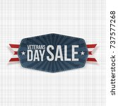 veterans day sale blue banner... | Shutterstock .eps vector #737577268