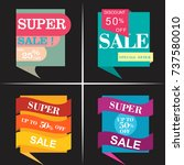 sale inscription design... | Shutterstock .eps vector #737580010