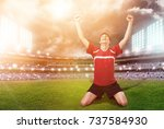 player. | Shutterstock . vector #737584930