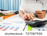 vat and loan rates calculated... | Shutterstock . vector #737587930