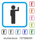 child vote icon. flat grey...