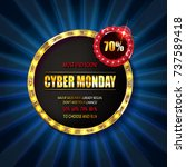 cyber monday sale sign template.... | Shutterstock .eps vector #737589418
