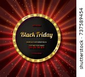black friday special offer on... | Shutterstock .eps vector #737589454
