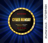cyber monday sale sign template.... | Shutterstock .eps vector #737589484