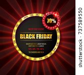 black friday special offer on...   Shutterstock .eps vector #737589550