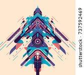 futuristic style design  made... | Shutterstock .eps vector #737592469