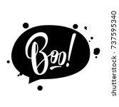 halloween vector lettering 'boo ... | Shutterstock .eps vector #737595340