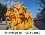 ubonratchathani  thailand  ... | Shutterstock . vector #737595859