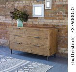 wardrobe interior room. wooden... | Shutterstock . vector #737600050