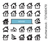 house icons | Shutterstock .eps vector #737600470