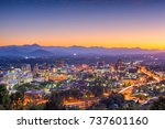 asheville  north carolina  usa... | Shutterstock . vector #737601160