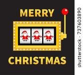 merry christmas. santa claus.... | Shutterstock .eps vector #737603890