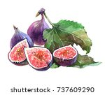 Figs. Sliced Figs. Pieces Of...