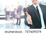 portrait of a successful... | Shutterstock . vector #737609374