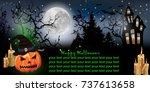 halloween horizontal background ...   Shutterstock .eps vector #737613658
