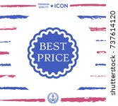 best price label icon | Shutterstock .eps vector #737614120