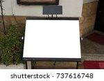 large blank billboard on a... | Shutterstock . vector #737616748