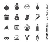 christmas icon collection | Shutterstock .eps vector #737619160