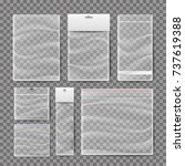 transparent plastic pocket bags ... | Shutterstock .eps vector #737619388