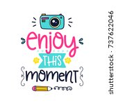 vector poster with phrase ... | Shutterstock .eps vector #737622046