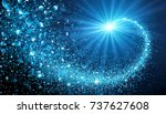 christmas shiny background with ... | Shutterstock .eps vector #737627608