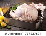 cooking thanksgiving or... | Shutterstock . vector #737627674