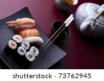 traditional japanese food  sushi | Shutterstock . vector #73762945