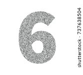 silver glitter alphabet number... | Shutterstock .eps vector #737638504