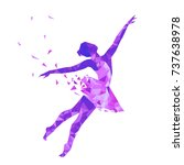 silhouette of a dancing girl of ...