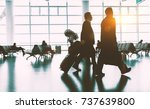 the passengers in the airport ... | Shutterstock . vector #737639800