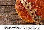 galette des rois | Shutterstock . vector #737640619