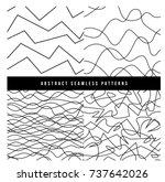 collection set of line abstract ... | Shutterstock .eps vector #737642026