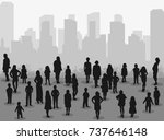 vector isolated silhouette of... | Shutterstock .eps vector #737646148