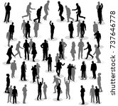 isolated silhouette of people... | Shutterstock .eps vector #737646778