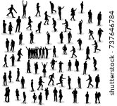 vector isolated silhouette of... | Shutterstock .eps vector #737646784