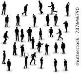 silhouette of people | Shutterstock .eps vector #737646790