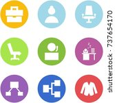 origami corner style icon set   ... | Shutterstock .eps vector #737654170