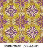seamless abstract floral... | Shutterstock .eps vector #737666884